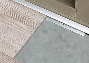 profilquot d39arret pour sol vinyle lvt support aluminium With barre d arret pour parquet