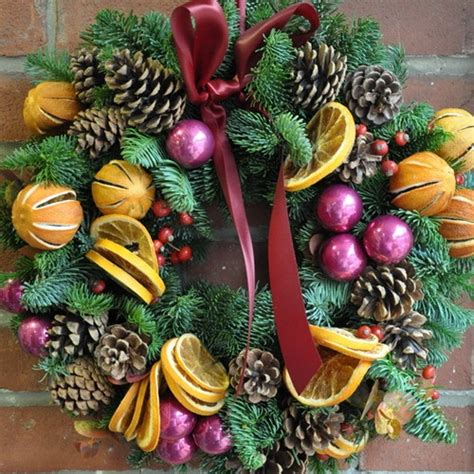 dried fruit christmas  wreaths  pinterest