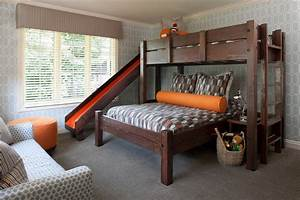 Queen murphy bed bedroom industrial with white painted