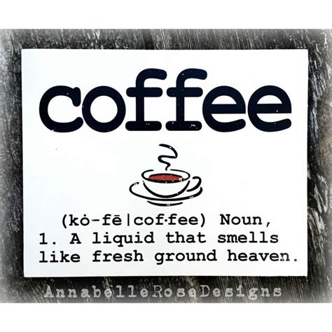 dictionary definition of coffee word sign