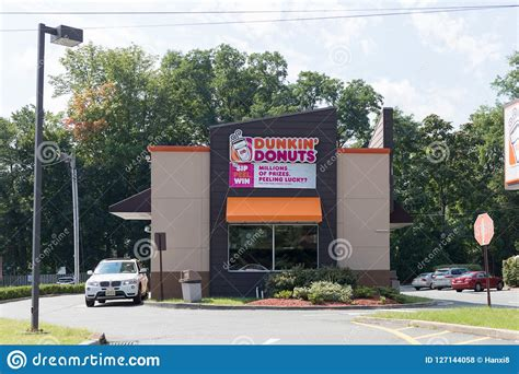 Enjoy the best cold brew coffee delivery in jersey city with uber eats. An Exterior View Of A Dunkin Donuts Coffee Shop In New Jersey. Editorial Stock Photo - Image of ...