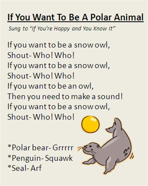 quot if you want to be a polar animal quot song great for winter 922 | 74591f4e73aafe83cee2bde2f0c68c02