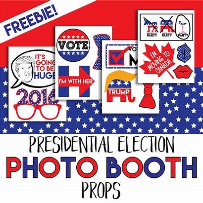 Booth Props Election Printable Presidential Night Happy