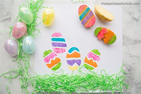 20 easter crafts for preschoolers the best ideas for 218 | Easter Craft Activity for Kids Stamping Easter Eggs