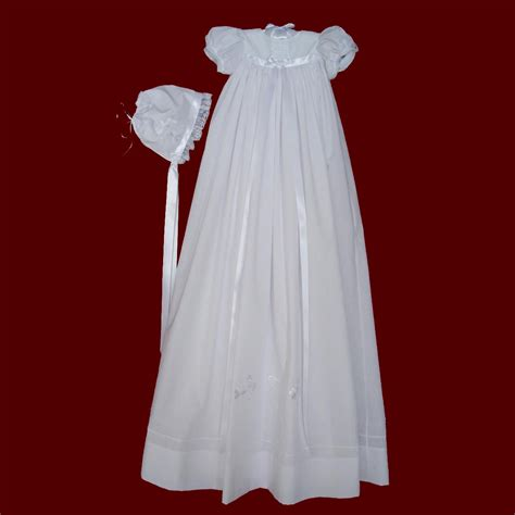 embroidered celtic cross claddagh christening gown