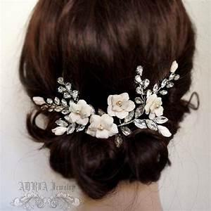 Bridal Head Piece Ivory Bridal Hair Adornment Large