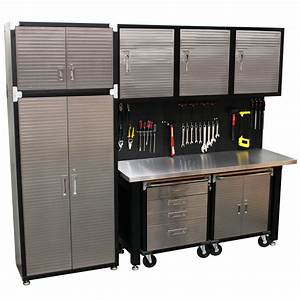 9, Piece, Standard, Garage, Storage, System, Stainless, Steel, Workbench, High, Rated, Quality, Solutions