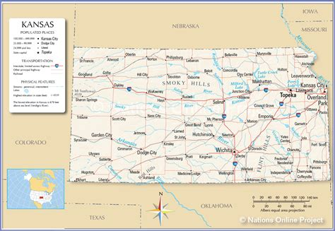 reference maps  kansas usa nations  project