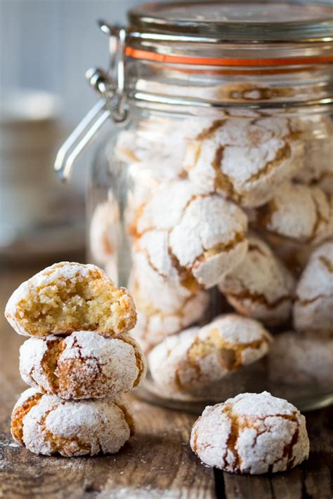 'tis the best part of the season. Chewy Amaretti Cookies   Desserts, Italian christmas cookies, Cookie crisp
