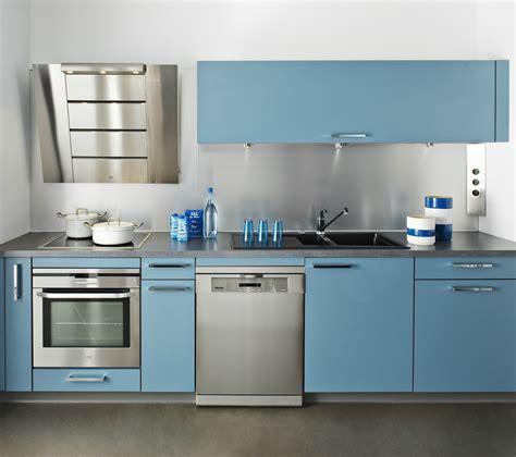 cuisine en bleu cuisine darty bleu avec hotte design photo 2 20
