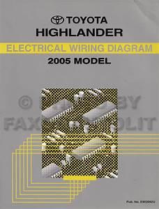 2005 Toyota Highlander Wiring Diagram Manual Original