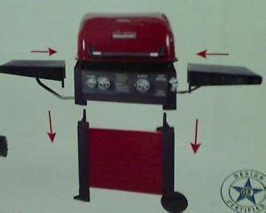 ecoque three burner gas grill patio lawn garden on