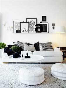 Sofa Nordischer Stil : schwarz wei einrichtungsstil 18 schicke ideen f r ihr ~ Lizthompson.info Haus und Dekorationen