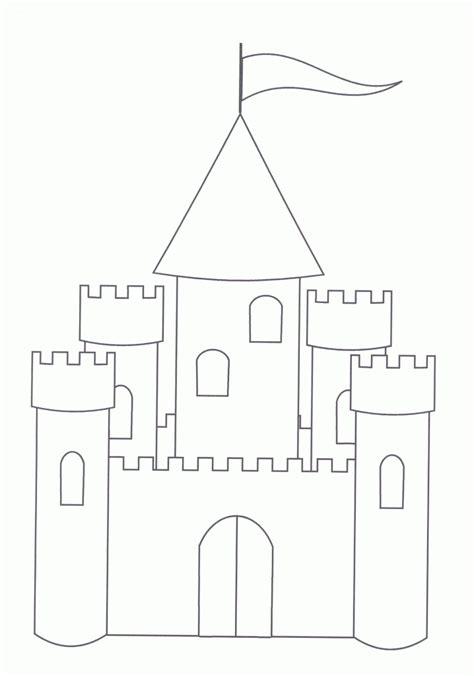printable castle coloring pages  kids