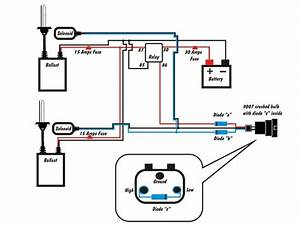 H4 9007 Bi-xenon Wiring Harness Diagram  Pics  Civics Esp