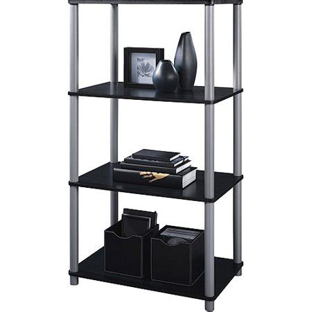 walmart black bookshelf mainstays 4 shelf bookcase black walmart