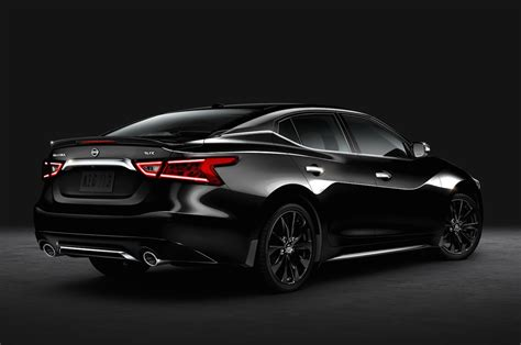 nissan maxima 2016 2016 nissan maxima sr gets blacked out with midnight package