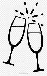 Champagne Flute Clipart Coloring Icon Brinde Pinclipart Transparent Background Glasses Flutes Pngfind sketch template