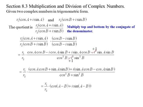 number for section 8 section 8 1 complex numbers ppt