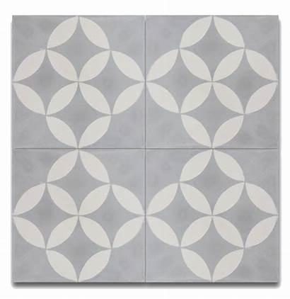 Tile Moroccan Cement Grey Floor Inch Wall