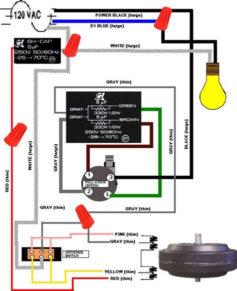 Chain Schematic Wiring by Three Speed Fan Wiring Diagram Light Switch Replacement