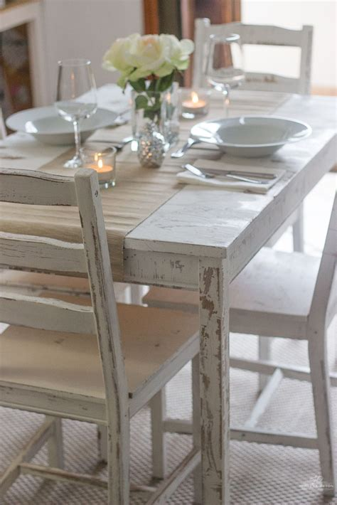 distressing  chalk paint ikea table  chairs makeover