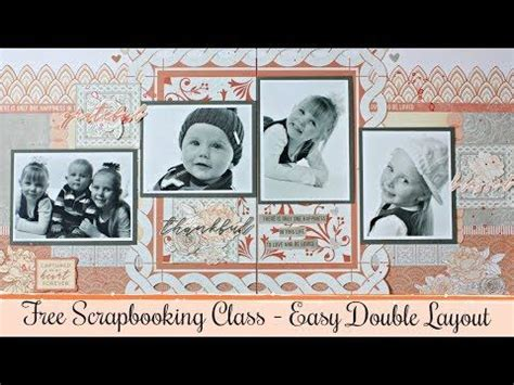 scrapbooking class double layout scrapbooking