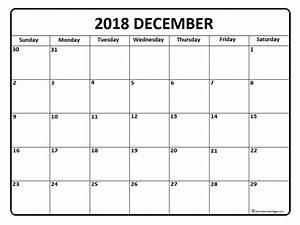 December 2018 Calendar December 2018 Calendar Printable