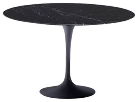 32 inch tulip table fine mod imports flower round marble top dining table in