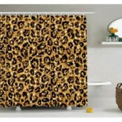 ambesonne animal leopard pattern shower curtain set