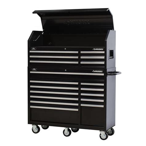 husky tool storage cabinets husky 52 in 18 drawer tool chest and rolling tool cabinet