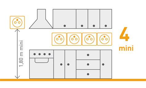 norme electrique cuisine norme nf c 15 100 les prises de courant espace grand