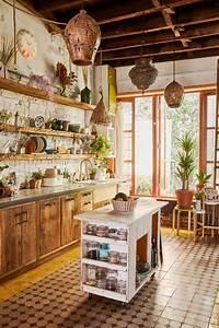 Navy Blue Pendant Light 25 Lively Eclectic Kitchen Décor Ideas Digsdigs