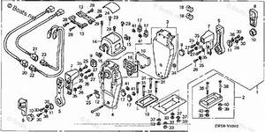 Honda Outboard Parts By Hp  U0026 Serial Range 115hp Oem Parts Diagram For Remote Control  Top Mount