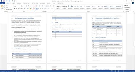 Database Documentation Template by Database Design Document Template