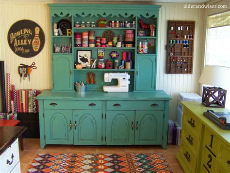 Craft Rooms :  The Perfect Use For An Old Hutch? Craft