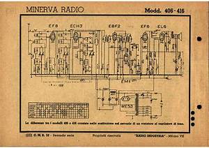 Minerva 406 416 418 Am Radio Receiver Sch Service Manual