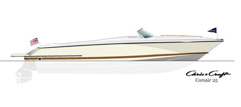 Boat Craft Drawing by Chris Craft Drawings