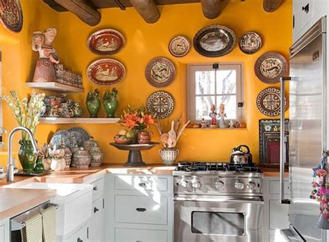 mexican kitchen decor  red cabinet paint decolovernet
