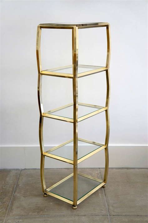 Brass Etagere by Italian Brass Etagere At 1stdibs