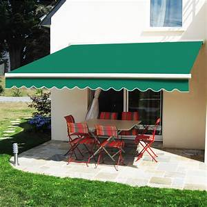 2 5m X 2m Manual Awning Retractable Patio Canopy Garden