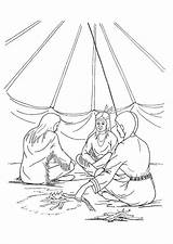 Coloring Pages Teepee Tipi sketch template