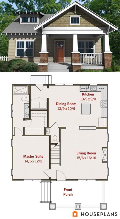 Small Home Floorplans small craftsman bungalow floor plan and elevation house