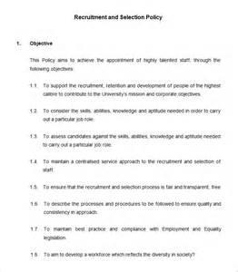 Sample HR Policies Templates