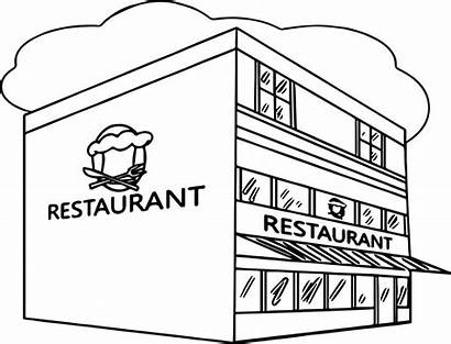 Coloring Restaurant Pages Building Printable Restaurants Sheets