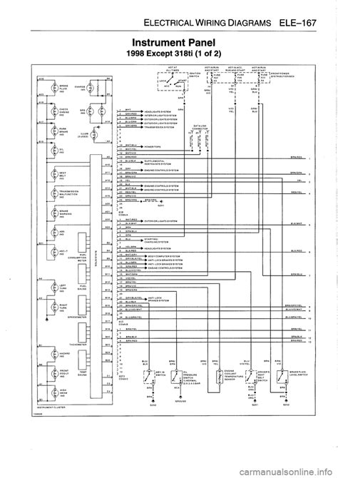 e36 instrument cluster wiring diagram 37 wiring diagram