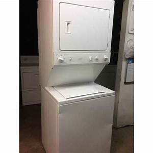 Newer Ge Stack Washer  Dryer Full Size 27 Inch