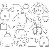 Coloring Clothes Clothing Clothesline Pages Kid Surfnetkids Templates Shoes Template Line sketch template