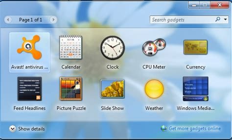 gadgets bureau windows 8 vista weather sidebar reginter0s com