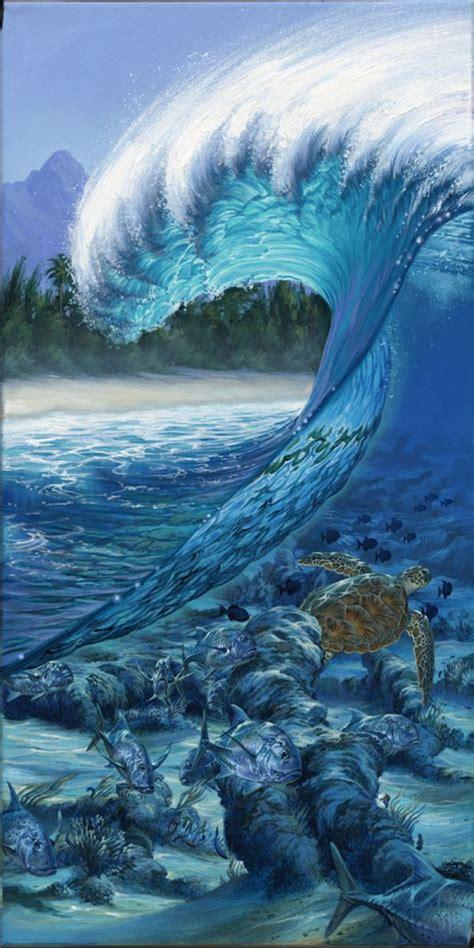 phil roberts paintings reef surf art painting wave